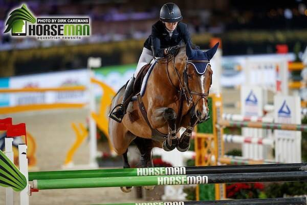 Christmas Jumping Mechelen: Claire in great form!